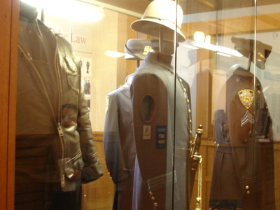 Police Uniforms On Display