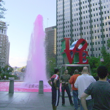 The Love Park Fountain