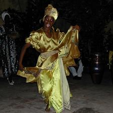 Yellow Dancer In Cuba
