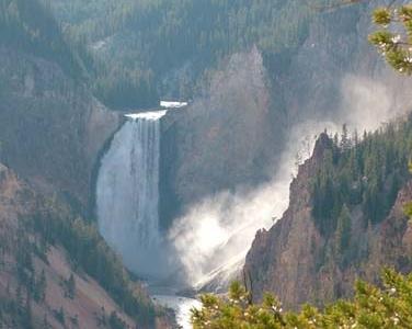 View Of Yellowstone Falls