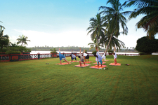 Yoga Class At Rajah Beach Resort