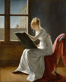 Young Woman Drawing