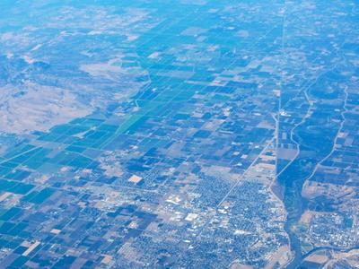 Yuba  City  C A  From  Air