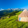 Yurt In Tien Shan Mountains In China