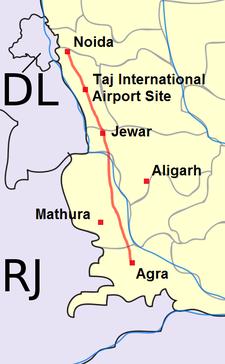 Yamuna Expressway Detailed Map