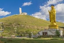 Zaisan Memorial Statue At Ulaanbaatar City