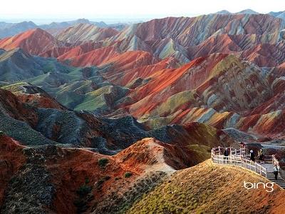Zangye Danxia Landform In Gansu