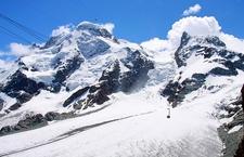 Zermatt - Le Breithorn (4164 M) Et Le Klein Matterhorn (3883 M)