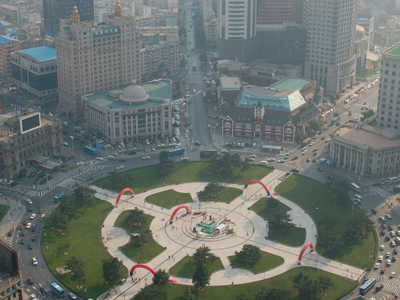 Zhongshan Square In Dalian