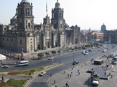 Zocalo Square With Cathedral
