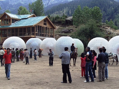 Zorbing And Horse Riding At Solang Valley