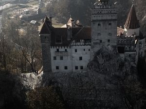 Fly Above Dracula's Castle from Bran Photos