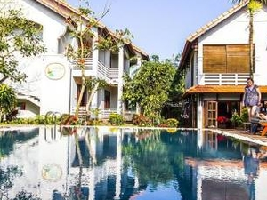 Quite, near center with pool