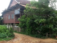 Traditional Cambodian wooden house