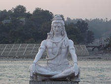 A Statue Of Shiva Meditating At Parmarth Niketan On The Ganges R