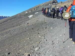 Climbing Mount Kilimanjaro on Marangu Route Fotos