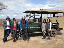 Guests At Lookout With One Of Our Open Safari Vehicle.
