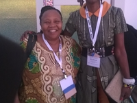 Myself With Ms.Njoroge Of Gyro Travel During The Asta Global Convention 2014 In USA