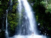 Emily Under Waterfall