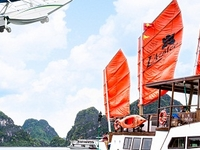 Halong Bay Flight & L'azalee Private Day Cruise
