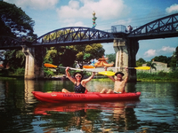 Passing The Bridge Over The River Kwai