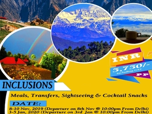 Club Tour Kausani over Weekend from Delhi