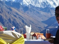 Mt. Everest Breakfast on Top of the World by Helicopter