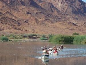 Adventurous Orange River Canoe Trip Photos