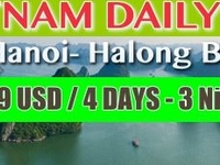 199 USD: 4 DAYS 3 NIGHTS HANOI - HALONG BAY