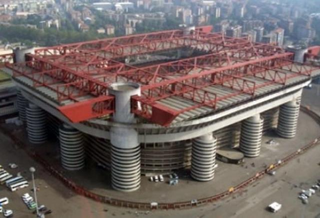 Soccer Game in Milan at San Siro Stadium Photos