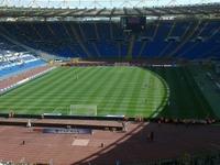 Soccer Game in Rome at Olimpic Stadium