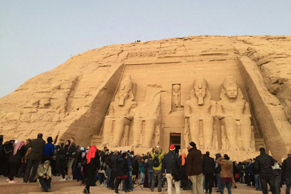 The Sun Illuminate on Abu Simbel Photos