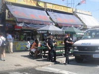 Cops In Coney Island, New York, June 2011