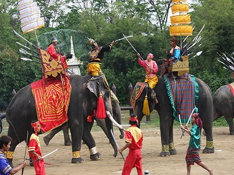 Join Tour Damnernsaduak Floating Market, Lunch, Crocodile Farm And Elephant Theme Photos