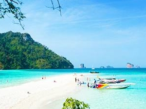 KRABI: Join Tour 4 Islands By Speed Boat (Buffet lunch on the beach)