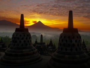 Borobudur Sunrise, Merapi jeep adventure, Prambanan temple Photos