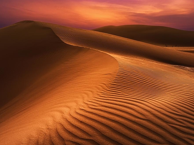 Sunset in the Empty Quarter Desert (Full Day). Photos
