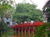 Hanoi The Huc Bridge  1