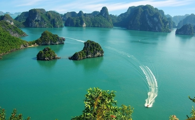 Vietnam Tours : Halong Bay Dolphin Cruise Tour Photos