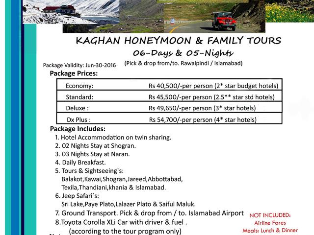 Kaghan Valley Honeymoon & Family Tour Photos
