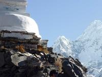 Hiker With Stupa