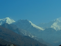 Mt. Kanchendzonga 8586m With Mt.Kabru North 7338m And South 7317m