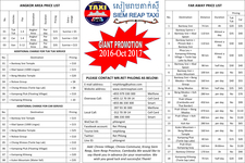Angkor Area Price List 1