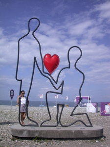 Batumi, This Statue Is Deceptive, No One Gave His Heart To Me In This City :)