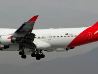 Boeing 747 Qantas Landing In Santiago