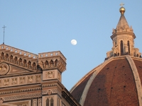 Florence\'s Duomo (and The Moon)