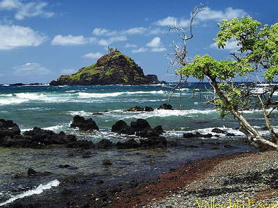 Island Off Of Hamoa Beach