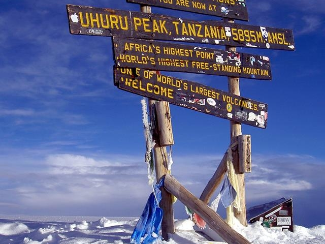 Kilimanjaro the Second Highest Mountain in World Photos