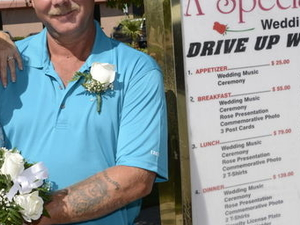 World Famous Drive-up Wedding in Las Vegas Photos