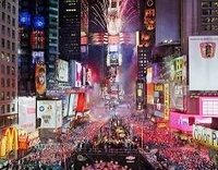 New Year's Eve Times Square Ball Drop Party Photos